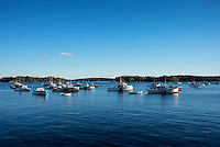Quaint fishing village, Friendship, Maine, USA