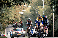 the breakaway group<br /> <br /> 60th De Brabantse Pijl 2020 - La Flèche Brabançonne (1.Pro)<br /> 1 day race from Leuven to Overijse (BEL/197km)<br /> <br /> ©kramon