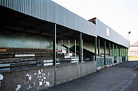 Main stand at Welton Rovers FC Football Ground, West Clewes, North Road, Midsomer Norton, Somerset, pictured on 27th March 1997