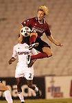 DALLAS, TX -SEPTEMBER 25: Bobby Rhine #19 of the Dallas Burn in action against Colorado Rapids at Cotton Bowl in Dallas on September 25, 2002 in Dallas, Texas. (Photo by Rick Yeatts) Rhine's career consisted of 212 games making 136 starts, played more than 12,000 minutes scoring 23 goals and 34 recorded assists.