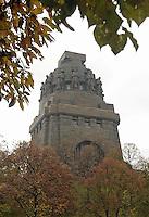 Das Völkerschlachtdenkmal in Leipzig. Es erinnert an die vor den Toren der Stadt am 18. Oktober 1813 stattgefundenen Schlacht - die als Völkerschlacht in die Geschichte einging. <br /> Foto: Norman Rembarz / aif