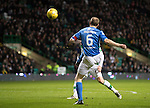 Celtic v St Johnstone…25.01.17     SPFL    Celtic Park<br />Steven Anderson attempts to lob Craig Gordon who tips the ball over the crossbar<br />Picture by Graeme Hart.<br />Copyright Perthshire Picture Agency<br />Tel: 01738 623350  Mobile: 07990 594431