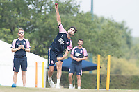 Steven Finn of Middlesex CCC during Middlesex CCC vs Hampshire CCC, Bob Willis Trophy Cricket at Radlett Cricket Club on 11th August 2020
