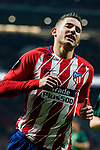 Lucas Hernandez of Atletico de Madrid reacts during the UEFA Europa League 2017-18 Round of 16 (1st leg) match between Atletico de Madrid and FC Lokomotiv Moscow at Wanda Metropolitano  on March 08 2018 in Madrid, Spain. Photo by Diego Souto / Power Sport Images