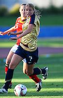 Courtney Verloo (USA)..FIFA U17 Women's World Cup, Semi Final, Germany v USA, QEII Stadium, Christchurch, New Zealand, Thursday 13 November 2008. Photo: Renee McKay/PHOTOSPORT