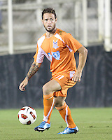 Daniel Paladini #11 Of the Carolina Railhawks during the second leg of the USSF-D2 championship match against the Puerto Rico Islanders at WakeMed Soccer Park, in Cary, North Carolina on October 30 2010. Game ended 1-1, Islanders won the championship 3-1 on overall goals.