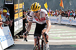 """Bauke Mollema (NED) Trek-Segafredo crosses the finish line in 18th place 3'29"""" down atop the Col du Tourmalet at the end of Stage 14 of the 2019 Tour de France running 117.5km from Tarbes to Tourmalet Bareges, France. 20th July 2019.<br /> Picture: Colin Flockton 