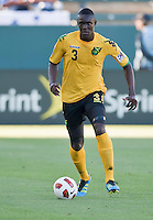 CARSON, CA – June 6, 2011: Jamaican Dicoy Williams (3) during the match between Grenada and Jamaica at the Home Depot Center in Carson, California. Final score Jamaica 4 and Grenada 0.