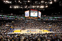Staples Center. The California Golden Bears defeated the UCLA Bruins 85-72 during the semifinals of the Pacific Life Pac-10 Conference Tournament at Staples Center in Los Angeles, California on March 12th, 2010.