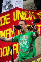 Peter Pinkney (RMT President).<br />