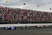 Verizon IndyCar Series<br /> Indianapolis 500 Race<br /> Indianapolis Motor Speedway, Indianapolis, IN USA<br /> Sunday 28 May 2017<br /> Takuma Sato, Andretti Autosport Honda, Josef Newgarden, Team Penske Chevrolet<br /> World Copyright: Scott R LePage<br /> LAT Images<br /> ref: Digital Image lepage-170528-indy-13587