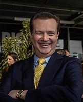 SAO PAULO, SP, 01 DE AGOSTO 2012 - COPA 2012 - CATALOGO CENTRO TREINAMENTO -  Prefeito de Sao Paulo, Gilberto Kassab durante lancamento do Catalogo de Treinamento de Selecoes da Copa do Mundo de Futebol no Brasil no Museu do Futebol na manha dessa quarta-feira, 01. FOTO: VANESSA CARVALHO - BRAZIL PHOTO PRESS.
