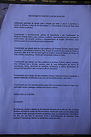 Biblioteca Professor Roberto Santos doada por sua família a Universidade Federal do Pará, fica largada em meio as obras do imóvel da instituição.<br /> Belém, Pará, Brasil.<br /> Foto Paulo Santos<br /> 13/03/2017