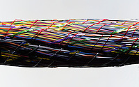 Bundle of color coded wire.