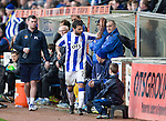 Kilmarnock v St Johnstone...05.04.14    SPFL<br /> Alexei Eremenko throws a wobbler as he is subbed<br /> Picture by Graeme Hart.<br /> Copyright Perthshire Picture Agency<br /> Tel: 01738 623350  Mobile: 07990 594431
