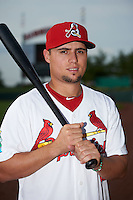 Springfield Cardinals shortstop Aledmys Diaz (16) poses for a photo before a game against the Frisco RoughRiders  on June 4, 2015 at Hammons Field in Springfield, Missouri.  Frisco defeated Springfield 8-7.  (Mike Janes/Four Seam Images)