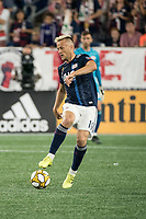 FOXBOROUGH, MA - SEPTEMBER 21: Teal Bunbury #10 of New England Revolution controls the ball during a game between Real Salt Lake and New England Revolution at Gillette Stadium on September 21, 2019 in Foxborough, Massachusetts.