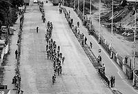 Peloton enduring the Antwerp cobbles<br /> <br /> 2017 National Championships Belgium - Elite Men - Road Race (NC)<br /> 1 Day Race: Antwerpen > Antwerpen (233km)