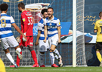 Todd Kane of Queens Park Rangers  celebrates his goal during Queens Park Rangers vs Millwall, Sky Bet EFL Championship Football at Loftus Road Stadium on 18th July 2020