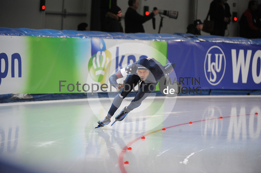 SPEEDSKATING: STAVANGER: 18-11-2017, Sørmarka Arena, ISU World Cup, Shani Davis (USA), ©photo Martin de Jong