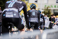 Team DSM riders on their way to the pre stage team presentation<br /> <br /> Stage 4 from Redon to Fougéres (150.4km)<br /> 108th Tour de France 2021 (2.UWT)<br /> <br /> ©kramon