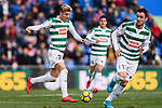 Ivan Alejo of SD Eibar (L) in action during the La Liga 2017-18 match between Getafe CF and SD Eibar at Coliseum Alfonso Perez Stadium on 09 December 2017 in Getafe, Spain. Photo by Diego Souto / Power Sport Images