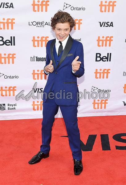 "09 September 2017 - Toronto, Ontario Canada - Noah Jupe. 2017 Toronto International Film Festival - ""Suburbicon"" Premiere held at Princess of Wales Theatre. Photo Credit: Brent Perniac/AdMedia"