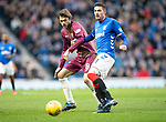 Rangers v St Johnstone…16.02.19…   Ibrox    SPFL<br />Kyle Lafferty and Murray Davidson<br />Picture by Graeme Hart. <br />Copyright Perthshire Picture Agency<br />Tel: 01738 623350  Mobile: 07990 594431