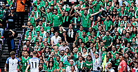 Mexico City, Mexico - Sunday June 11, 2017: El Tri supporters during a 2018 FIFA World Cup Qualifying Final Round match with both men's national teams of the United States (USA) and Mexico (MEX) playing to a 1-1 draw at Azteca Stadium.