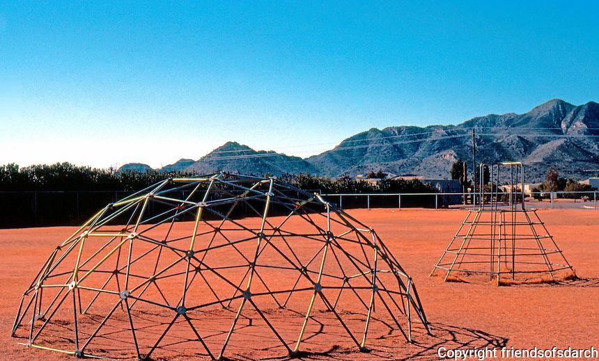 R. Buckmister Fuller: Fuller Dome Structure, Playground. Phoenix, Arizona.  Photo '77.