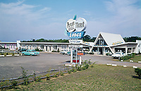 Great old neon sign for the Peters Hill Motor Lodge.