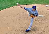 3 September 2012: Chicago Cubs pitcher Jeff Samardzija in action against the Washington Nationals at Nationals Park in Washington, DC. The Nationals edged out the visiting Cubs 2-1, in the first game of heir 4-game series. Mandatory Credit: Ed Wolfstein Photo