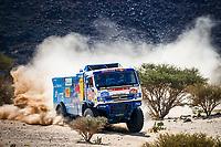 6th January 2021; Wadi Al Dawasir to Riyadh, Saudia Arabia; Dakar 2021 Rally, stage 4;  507 Sotnikov Dmitry (rus), Akhmadeev Ruslan (rus), Akhmatzianov Ilgiz (rus), Kamaz, Kamaz - Master, Camion, Truck, action during the 4th stage of the Dakar 2021 between Wadi Al Dawasir and Riyadh, in Saudi Arabia on January 6, 2021