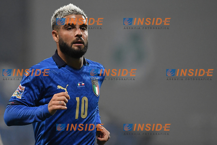Lorenzo Insigne of Italy looks on during the Uefa Nation League Group Stage A1 football match between Italy and Poland at Citta del Tricolore Stadium in Reggio Emilia (Italy), November, 15, 2020. Photo Andrea Staccioli / Insidefoto