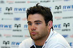 Scrum Half Mike Phillips speaking during the  Ospreys v Ulster press conference at Llandarcy Institute of Sport..