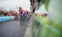 Lars Van der Haar (NLD/Giant-Shimano) sprinting into the lead right from the start<br /> <br /> GP Sven Nys 2015