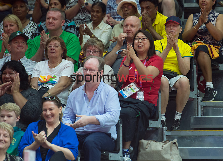 Wales Anna Hursey's mum and dad looks on <br /> <br /> *This image must be credited to Ian Cook Sportingwales and can only be used in conjunction with this event only*<br /> <br /> 21st Commonwealth Games - Table tennis -  Day 2 - 06\04\2018 - Oxenford - Gold Coast City - Australia