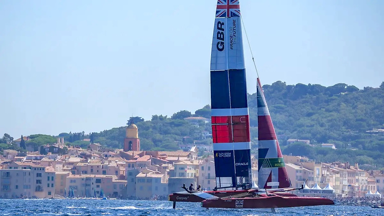 The opening day of the France Sail Grand Prix in September was a mixed day for Ben Ainslie's Great Britain SailGP Team in light breeze in Saint-Tropez