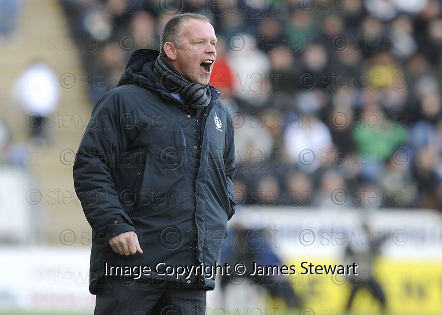 21/12/2008  Copyright Pic: James Stewart.File Name : sct_jspa27_falkirk_v_celtic.FALKIRK MANAGER JOHN HUGHES GETS HIS POINT ACROSS..James Stewart Photo Agency 19 Carronlea Drive, Falkirk. FK2 8DN      Vat Reg No. 607 6932 25.Studio      : +44 (0)1324 611191 .Mobile      : +44 (0)7721 416997.E-mail  :  jim@jspa.co.uk.If you require further information then contact Jim Stewart on any of the numbers above.........