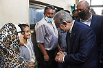 Palestinian Prime Minister Mohammed Ishtayeh visits hospitals in the West Bank city of Jenin on October 11, 2021. Photo by Prime Minister Office