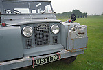 Original grey late 1950s / early 1960s Series 2 Land Rover 88 Station Wagon fitted with age related jerry can holder on front bumper and relocated flashers. --- No releases available. Automotive trademarks are the property of the trademark holder, authorization may be needed for some uses.