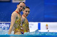 BOJER Marlene / ZIMMER Michelle GER <br /> DUET FREE Final <br /> Artistic Swimming<br /> Budapest  - Hungary  14/5/2021<br /> Duna Arena<br /> XXXV LEN European Aquatic Championships<br /> Photo Andrea Staccioli / Deepbluemedia / Insidefoto