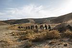 Students of the Afghan National Army (ANA) are doing an exercise that consist on gaining field on the enemy, Kabul, Afghanistan, 6th November 2017.<br /> <br /> Des étudiants de l'Armée nationale afghane (ANA) font un exercice qui consiste à gagner un terrain sur l'ennemi, à Kaboul, en Afghanistan, le 6 novembre 2017.