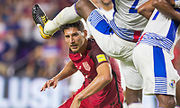 Orlando, FL - Friday Oct. 06, 2017: Omar Gonzalez during a 2018 FIFA World Cup Qualifier between the men's national teams of the United States (USA) and Panama (PAN) at Orlando City Stadium.