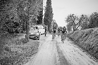 Michal Kwiatkowski (POL/SKY) & Greg Van Avermaet (BEL/BMC) at the front of the race<br /> <br /> 11th Strade Bianche 201711th Strade Bianche 2017