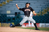 Jupiter Hammerheads starting pitcher Jordan Yamamoto (23) delivers a pitch during the second game of a doubleheader against the Bradenton Marauders on May 27, 2018 at LECOM Park in Bradenton, Florida.  Jupiter defeated Bradenton 4-1.  (Mike Janes/Four Seam Images)