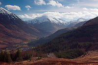Glen Nevis and the Mamores from Cow Hill, Lochaber