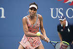 Venus Williams plays at the US Open being played on September  3, 2017 at Billy Jean King Ntional Tennis Center in Flushing, Queens, New York.  ©Leslie Billman/EQ