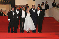 TERRY NOTARY , GUEST, DIRECTOR RUBEN OSTLUND, ELISABETH MOSS, CLAES BANG AND DOMINIC WEST - RED CARPET OF THE FILM 'THE SQUARE' AT THE 70TH FESTIVAL OF CANNES 2017