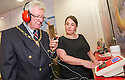 Falkirk's Deputy Provost, Councillor John Patrick takes part in a two minute hearing test with audiologist Lynsey McDonald.<br /> <br /> <br /> 29/06/2016    004_amplifon  <br /> Copyright  Pic : James Stewart   <br /> James Stewart Photography, 19 Carronlea Drive, Falkirk. FK2 8DN  <br /> Vat Reg No. 607 6932 25  <br /> Mobile : +44 (0)7721 416997  <br /> E-mail  :  jim@jspa.co.uk  <br /> If you require further information then contact Jim Stewart on any of the numbers above ...